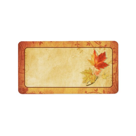fall maple leaves wedding blank address labels zazzle com