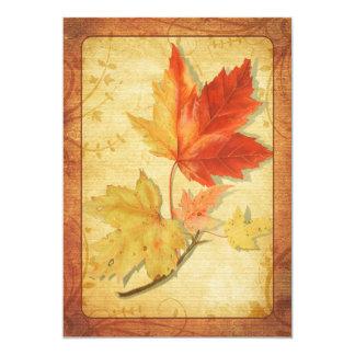 Fall Maple Leaves Wedding Invitation Ver Two