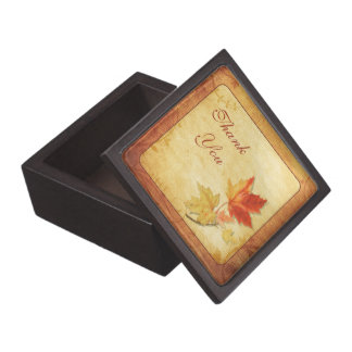 Fall Maple Leaves Wedding Thank You Gift Box