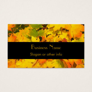 Fall Maple Leaves with Autumn Colors Business Card