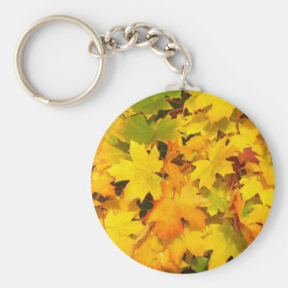 Fall Maple Leaves with Autumn Colors Keychain