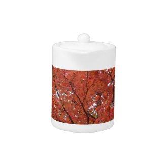 Fall Maple Teapot