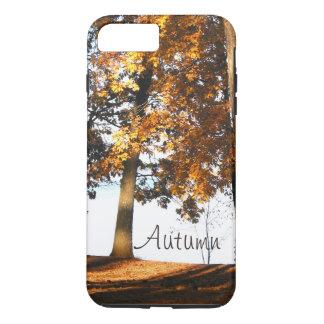 Fall maple tree leaves autumn monogram iPhone 7 plus case