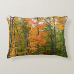 Fall Maple Trees Autumn Nature Photography Accent Pillow