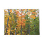 Fall Maple Trees Autumn Nature Photography Doormat
