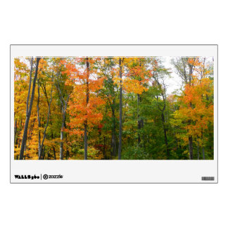 Fall Maple Trees Autumn Nature Photography Wall Sticker