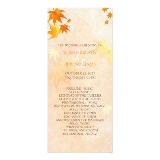 Fall Maple Wedding Celebration Program