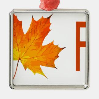 fall metal ornament