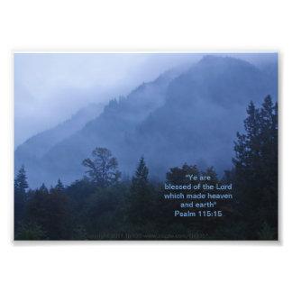 Fall Mist Print w/Scripture Verse Photo