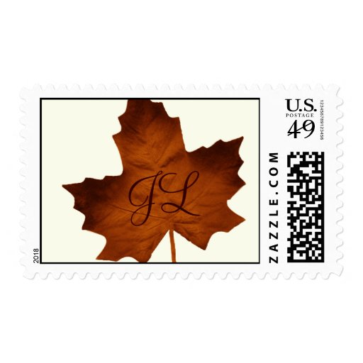 Fall Monogrammed Stamp
