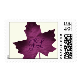 Fall Monogrammed Stamp (purple)