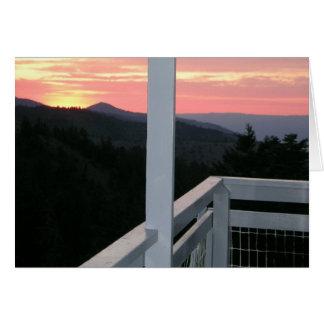 Fall Mountain Fire Lookout Card