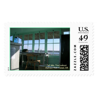 Fall Mountain Fire Lookout Postage Stamp
