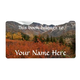 Fall Mountain Landscape Label