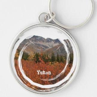 Fall Mountain Landscape; Yukon Souvenir Keychain