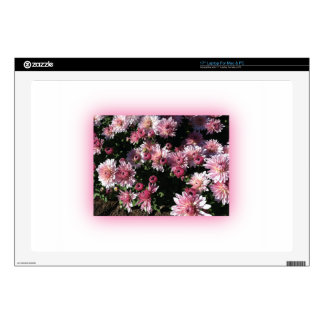 Fall Mums At Sunset Decals For Laptops