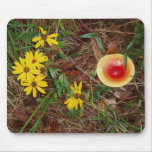 Fall Mushroom and Sunflowers Mouse Pad