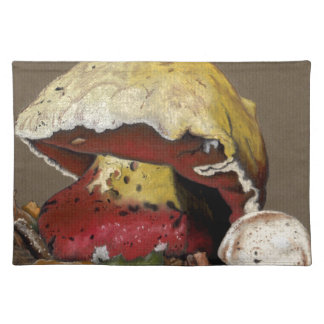 Fall Mushroom Autumn Leaves Placemat