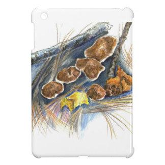 Fall Mushrooms - watercolor pencil iPad Mini Case