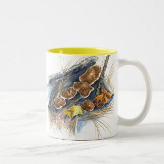 Fall Mushrooms - watercolor pencil Mugs
