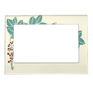 Fall Nature Leaves and Berries Magnetic Frame