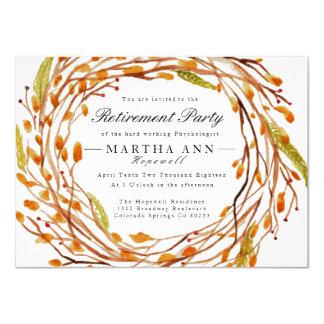 Fall Nest | Watercolor Retirement Invite