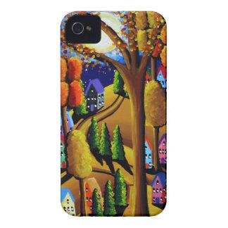 Fall Night Folk Art iPhone Case