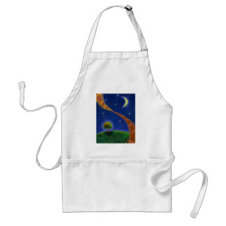 Fall night movie art fun painting for film lovers adult apron