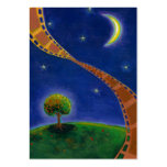 Fall night movie art fun painting for film lovers business card templates