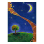 Fall night movie art fun painting for film lovers personalized announcement