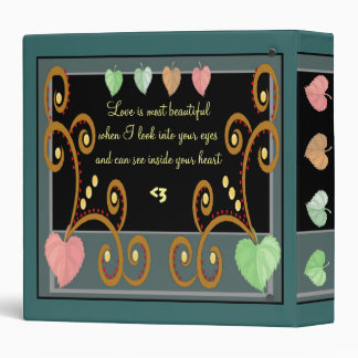 Fall Nuptials Custom Love Binder