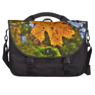 Fall Oak Leaf HDR Laptop Computer Bag