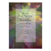 Fall Oak Leaf Hydrangea Couples Wedding Shower Personalized Announcement