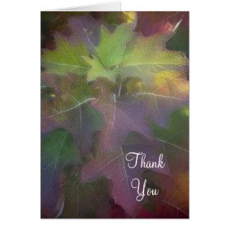 Fall Oak Leaf Hydrangea Thank You Card