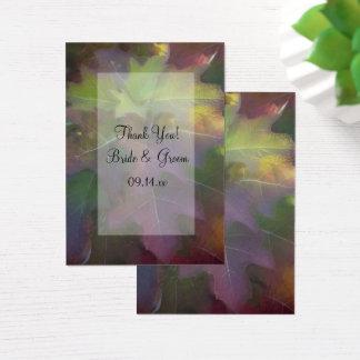 Fall Oak Leaf Hydrangea Wedding Favor Tags