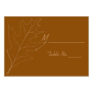 Fall Oak Leaf Wedding Place Cards