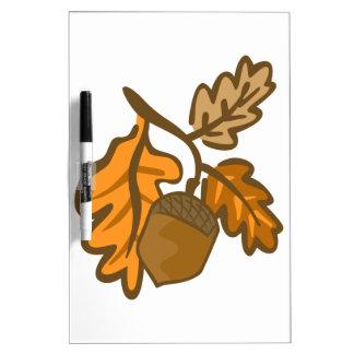 Fall Oak Leaves Acorn Dry-Erase Board