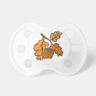 Fall Oak Leaves Acorn Pacifier