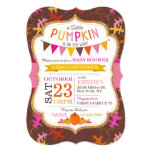 Fall Oak Leaves and Pumpkins Baby Shower Invite