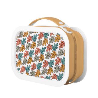 Fall Oak Leaves Pattern Lunchbox