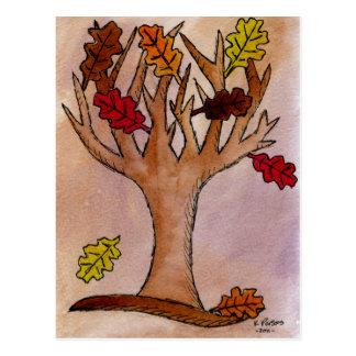 Fall Oak Tree Postcard