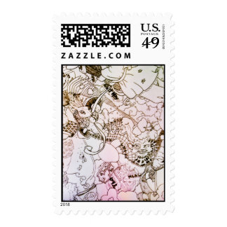 Fall of Alice3 Postage Stamp