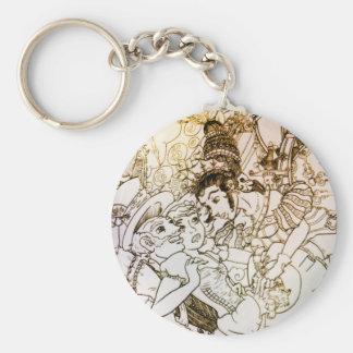 Fall of Alice Key Chain