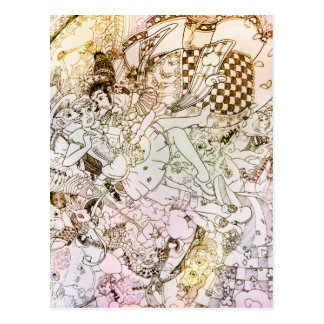 Fall of Alice Postcard