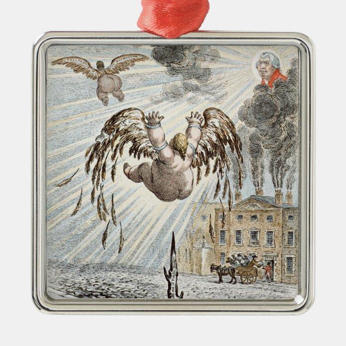 Fall of Icarus, 1807 Metal Ornament
