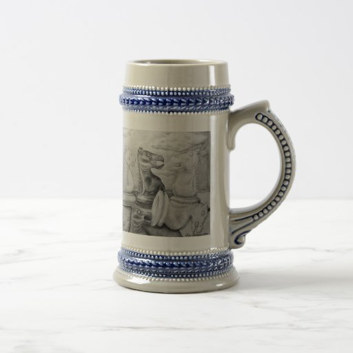 Fall of Knight 18 Oz Beer Stein