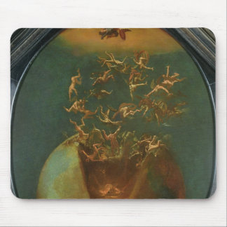 Fall of Satan and the Rebel Angels from Heaven Mouse Pad