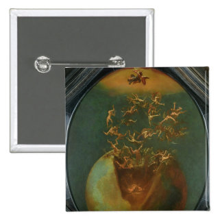 Fall of Satan and the Rebel Angels from Heaven Pinback Button