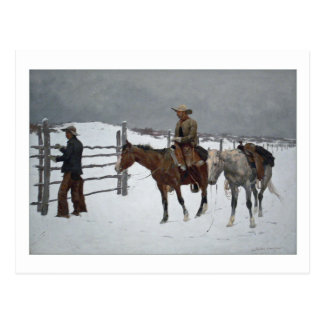Fall of the Cowboy by Frederic Remington Postcard