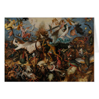 Fall of the Rebel Angels by Pieter Bruegel Card